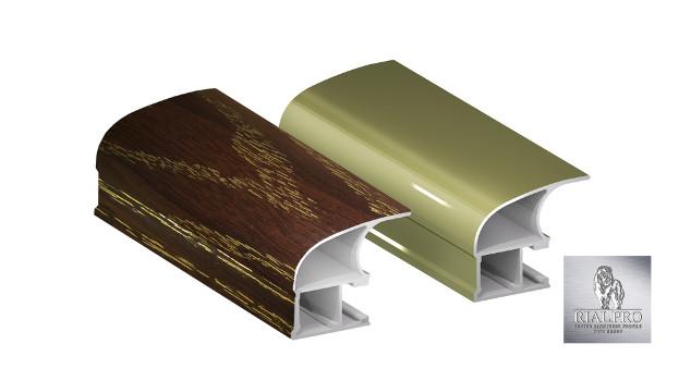 алюминиевый профиль в плёнке ПВХ и анодированный